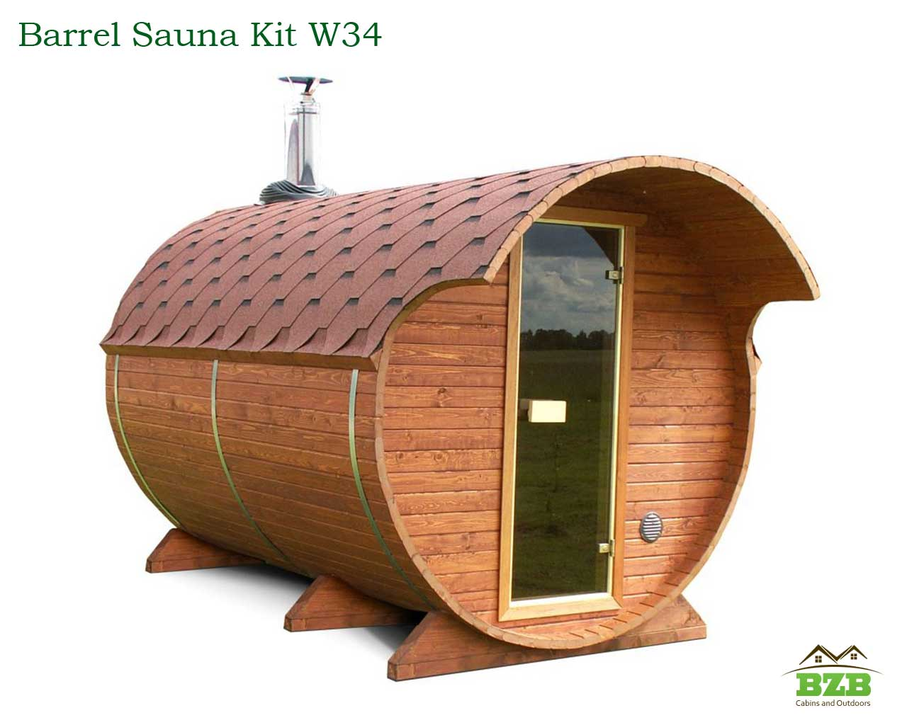 w34 bzb barrel sauna kit